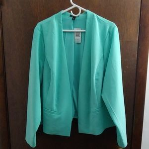 Seafoam Green/Blue Blazer Torrid Sz 2